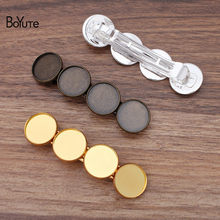 BoYuTe (10 Pieces/Lot) 86*22MM Metal Hair Clip with 20MM Cabochon Base Tray Wholesale Antique Bronze Silver Gold Diy Hair Clip