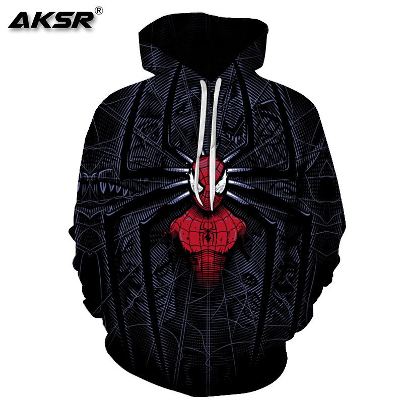 AKSR Men 3D Hoodies Sweatshirt Marvel Avengers Costume Hoodies Men Pullover Hooded Sweatshirt Hip Hop Hoodie Streetwear Sudadera