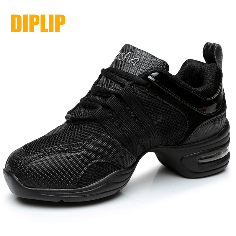 DIPLIP New Soft Bottom Sports Dance Shoes Breathable  Shoes Ladies Jazz Shoes Shoes Modern Dance Size 34-45