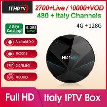 Italy Arabic Portugal Africa IPTV France HK1 MINI+ Android 9.0 4G+128G BT Dual-Band WIFI IPTV Turkey Spain Qatar ITHDTV IPTV Box все цены