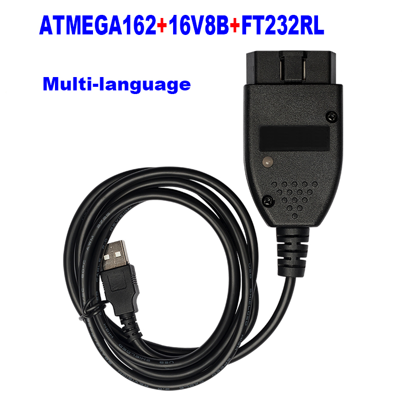 2020 Newest Interface Car Diagnostic Cable 19.6.1 English Polish German French Denish Atmega162 Chip