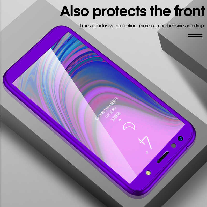 Hot 360 Degree Full Protect Case For Samsung Galaxy A10 A20 A30 A40 A50 A60 A70 A3 A5 2017 A7 A6 A8 Plus 2018 Cover With Glass