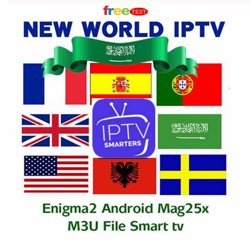 Giá rẻ Giá IPTV Tây Ban Nha Thuê Bao 6 tháng IPTV Bồ Đào Nha Abonnement IPTV Thuê Bao M3U Đức Pháp cho Smart TV Enigma2