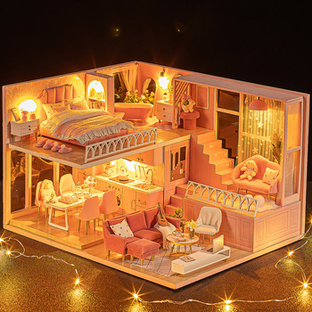 Cutebee DIY DollHouse Wooden Doll Houses Miniature Dollhouse Furniture Kit Toys for children New Year Christmas Gift  Casa L30 adis adis 3d l30