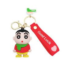 Chain for Pants Cartoon Keychain Bags Silicone Man Key Chain Women Key Holder Crayon Shin-chan Keyring Key Ring Pendant Funny keychain acrylic man key chain identity v women key ring chain for pants pendant kids key holder jewelry brelok kael invoker