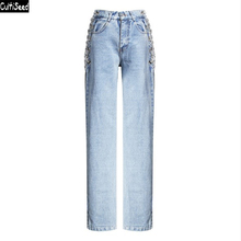 Women Denim Jeans Pant Trousers New Fashion Female High Wais