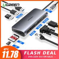 Ugreen HUB USB C HUB à Multi-usb 3.0 HDMI Adaptateur Dock pour MacBook Pro Accessoires USB-C Type C 3.1 Répartiteur 3 Ports USB C MOYEU