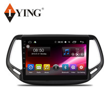 IYING Mobil Radio Multimedia Player untuk Kompas Jeep Auto Radio 2017 2018 1 Din Android Auto WIFI 4G 8 inti Acar Pemain Android 9(China)