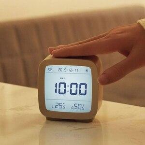 Image 4 - Youpin cleargrass bluetooth digital termômetro de temperatura e umidade monitoramento lcd tela despertador luz da noite