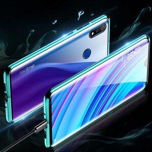 Image 3 - 磁気吸着ケース Realme ため X2 プロ両面強化ガラスフル保護ケース Realme X ライト Q X2 高級電話ケース