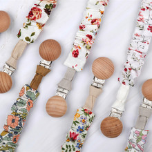 Niemowlę bawełniany smoczek z klipsem dla noworodka ząbkowanie smoczek Chew Dummy Chains buk Wood klips smoczka tanie tanio Pottycluno Cotton Metal Wooden Pacifier Clip Chain