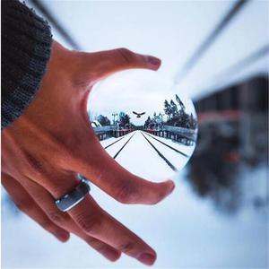 Image 3 - Boule de lentille de cristal de photographie de 60mm 80mm boule de verre magique claire de Quartz asiatique avec le sac portatif pour le tir de Photo