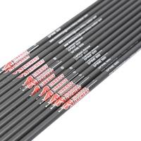 Boogschieten 12pcs Carbon Pijlen As ID4.2mm Sp400 1000 voor Recurve Compound Boog Schieten Outdoor Accessoires-in Boog & Pijl van sport & Entertainment op