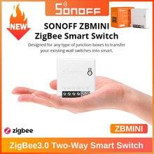 SONOFF ZigBee 3.0 akıllı anahtar MINI DIY iki yönlü kontrol ses uzaktan kumanda Alexa Google Home ile çalışır akıllı ev araçlar