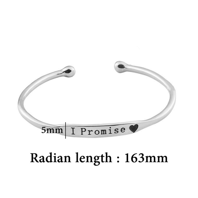 Silver Cuff Bracelet Bangle Promise Fashion Women Jewelry  1