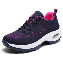 2020 Summer Women Sneakers Slip On Ladies Breathable Mesh Sock Shoes Woman Fashion Platform Plus Size 35-42 Casual Sneakers