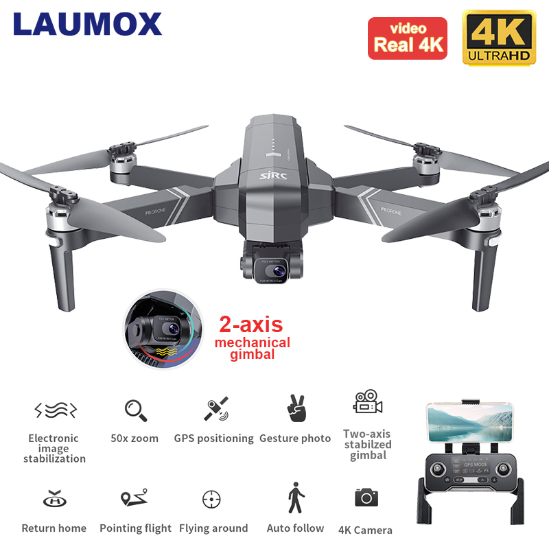 SJRC F11 PRO 4K Drone GPS 5G WiFi 2 Axis Gimbal Dual Camera Professional RC Foldable 50X Zoom Brushless Quadcopter SG906 PRO 2 1