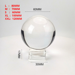 Прозрачный 60 мм/70 мм/80 мм/100 мм/120 мм Кристальный шар с бесплатной подставкой K9 стеклянный шар для фотосъемки