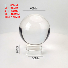 ברור 60mm/70mm/80mm/100mm/120mm קריסטל כדור עם משלוח Stand k9 קריסטל זכוכית כדור לצילום נכס