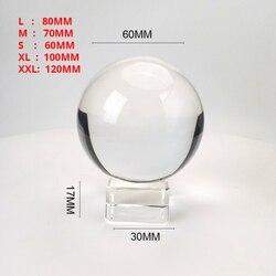 Claro 60mm/70mm/80mm/100mm/120 bola de cristal mm con soporte libre K9 bola de cristal para fotografía Prop