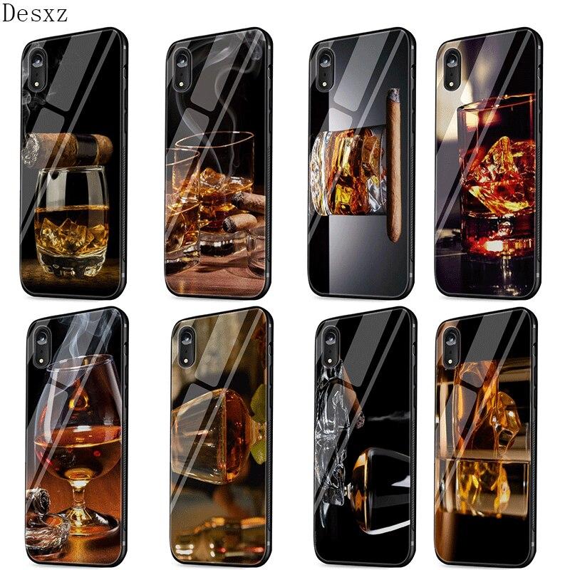 Funda de teléfono móvil para iPhone 5, 5s, SE, 6, 6s, 7, 8 Plus, iPhone 11 Pro, 6P, 7P, 8 P, X XS, XR Max, bonito cigarro, trago de whisky helado Jyrkior, soporte de fijación PCB para teléfono móvil, placa base, Plataforma de mantenimiento de soldadura para iPhone 5/5S/6/6P/7/7P/8/XR, reparación de soldadura