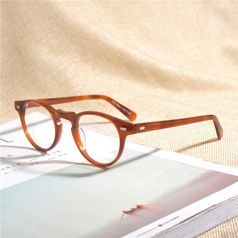 Retro Vintage Kacamata Optik OV5186 Oval Bingkai Kacamata Gregory Peck Dekorasi Tontonan Miopia Bingkai Oculos Di Grau De