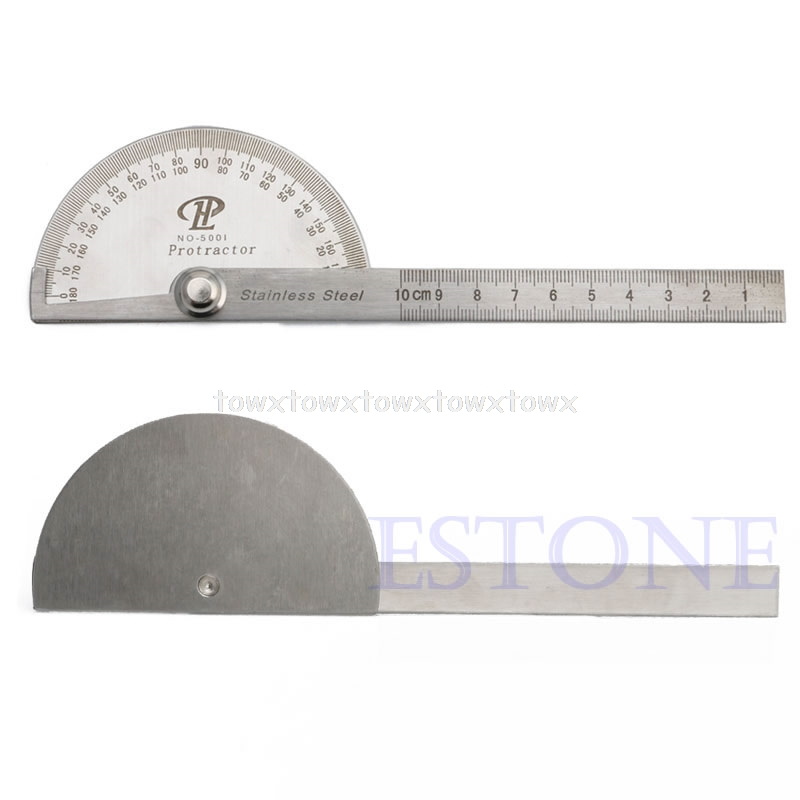 Stainless Steel 180 Degree Protractor Angle Finder Arm Rotary Measuring Ruler  Jy20 19 Dropship