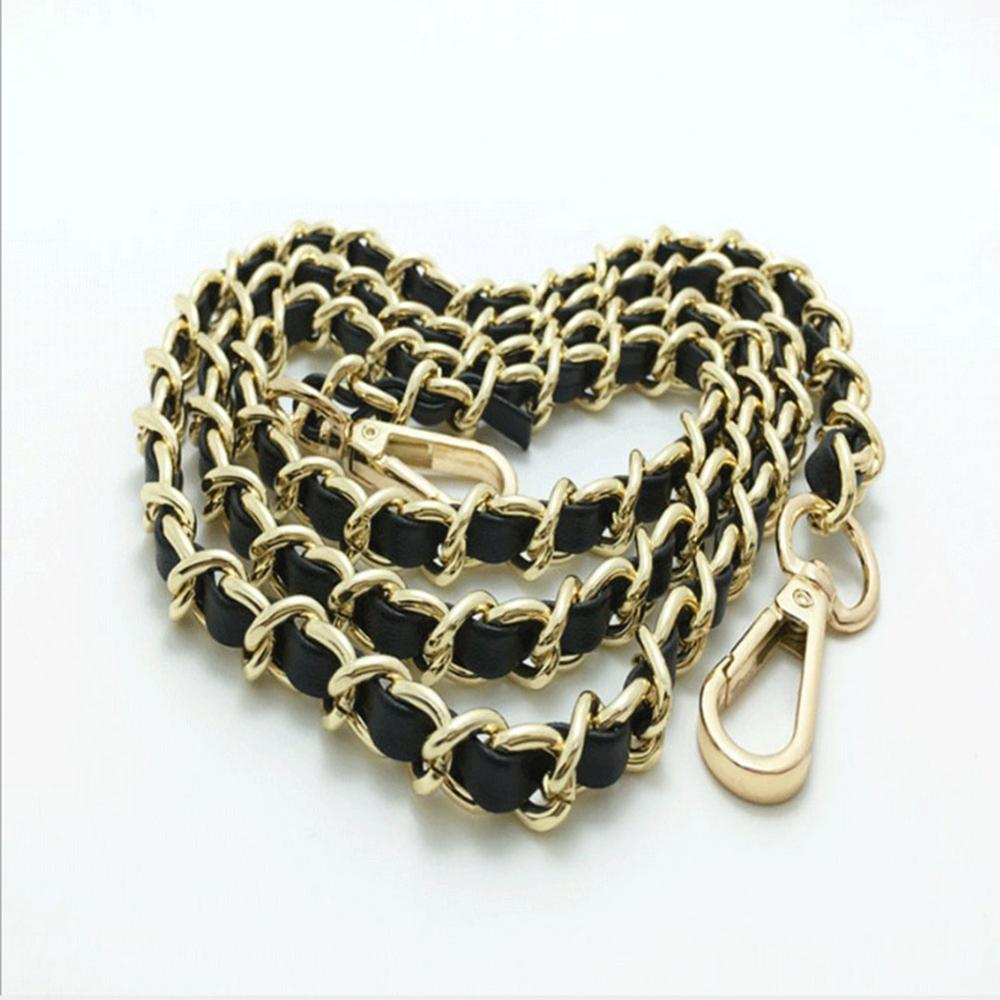 DIY 120cm Metal Replacement Chain Shoulder Bag Strap WIth Buckle Bag Chain Replacement for Handbag Shoulder Bag Accessories