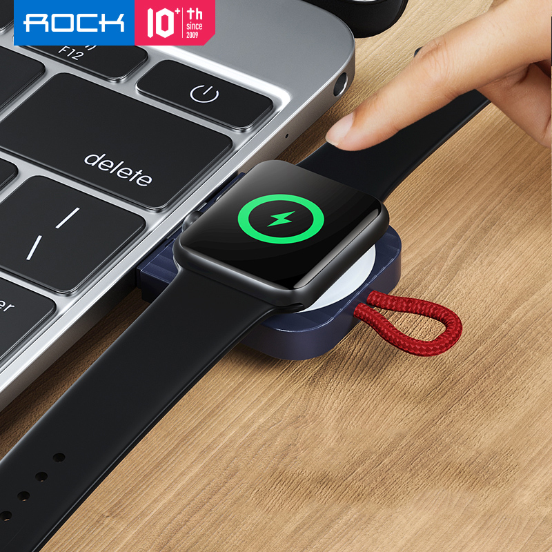 ROCK Magnetic Wireless Charger Pad for Apple Watch Series 5 4 3 2 1 Portable Qi Wireless Charging Dock USB Charger for iWatch|Wireless Chargers| |  - title=