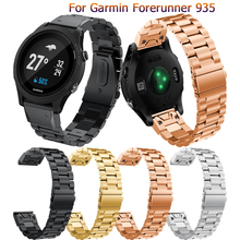 Fashion band Strap For Garmin Forerunner 935 / 945 Watch Quick Release Stainless steel Wristband For Garmin Fenix 5 6 watch band