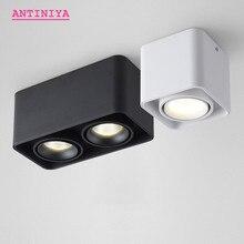 1 шт. квадратный монолитный блок светодиодов 10 Вт 15 Вт 20 Вт 30 Вт, светодиодный потолочный светильник с поверхностным креплением