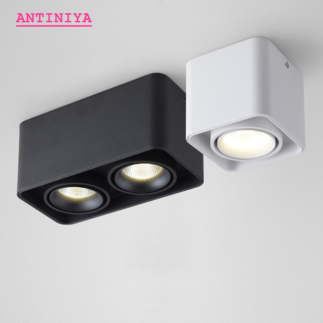 1 stücke Platz COB LED dimmbare Downlights 10W 15W 20W 30W Oberfläche Montiert LED Decke Lampen spot Licht LED Downlights AC85V 265V