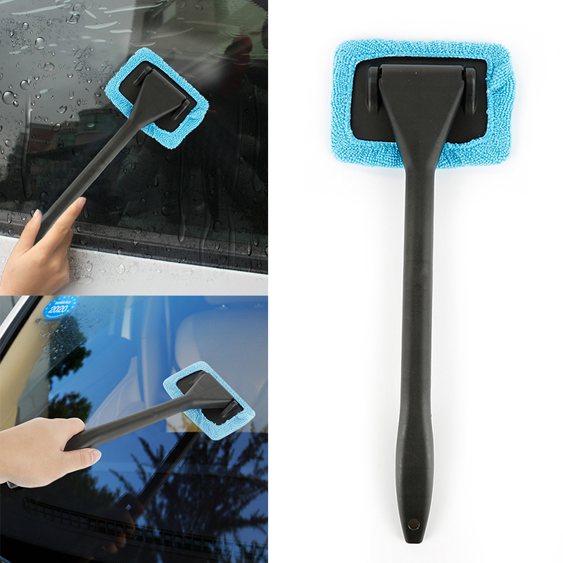 Handle Car Window Glass Cleaner Handy Auto Window Dust Fog Home Cleaner Wash Brushs Windshield Towel Washing Auto Accessories