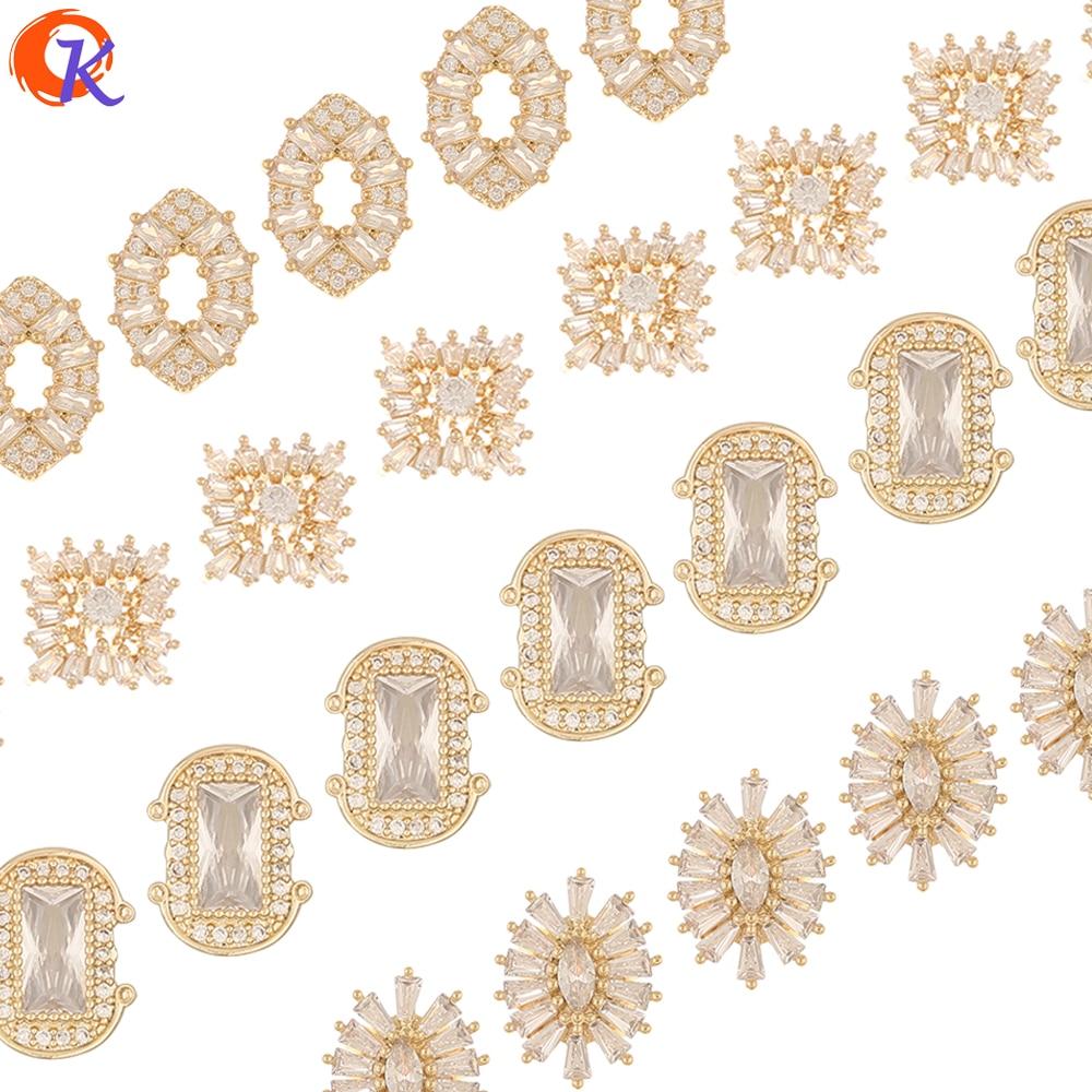 Design cordial 30 pçs acessórios de jóias/decoração/genuíno chapeamento de ouro/zircônia cúbica encantos/descobertas de jóias/diy fazendo