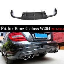 W204 C63 Carbon Fiber Rear Bumper Lip Diffuser Spoiler for Benz W204 C180 C200 C300 Sport Bumper & C63 2011 - 2014