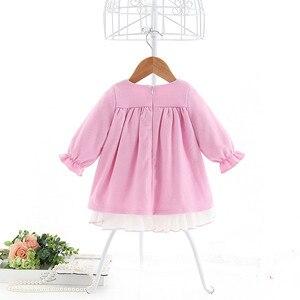 Image 4 - תינוק בנות שמלות נסיכת בנות בגדי ילדי בגדים הסטודנטיאלי סגנון ילדים בגדי כדור שמלה עם קשת 1 5Y