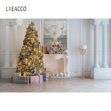 Laeacco Merry Christmas Photography Backdrops Custom Vinyl Party Decor Baby Portrait Photographic Backgrounds For Photo Studio цены