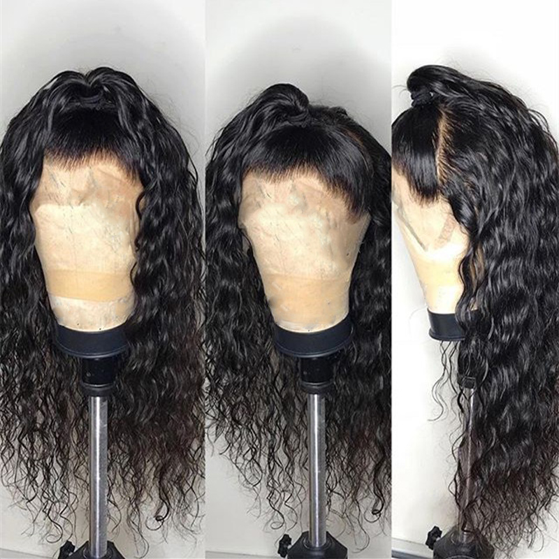 Wig Lace-Wigs Lace-Frontal Water-Wave Tuneful Pre-Plucked Remy-Hair 100%Malaysian 13x4 title=