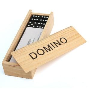 Juego de mesa de madera con bloques de dominó para niño, juego de mesa divertido de viaje, regalo educativo para niño, 28 Uds.