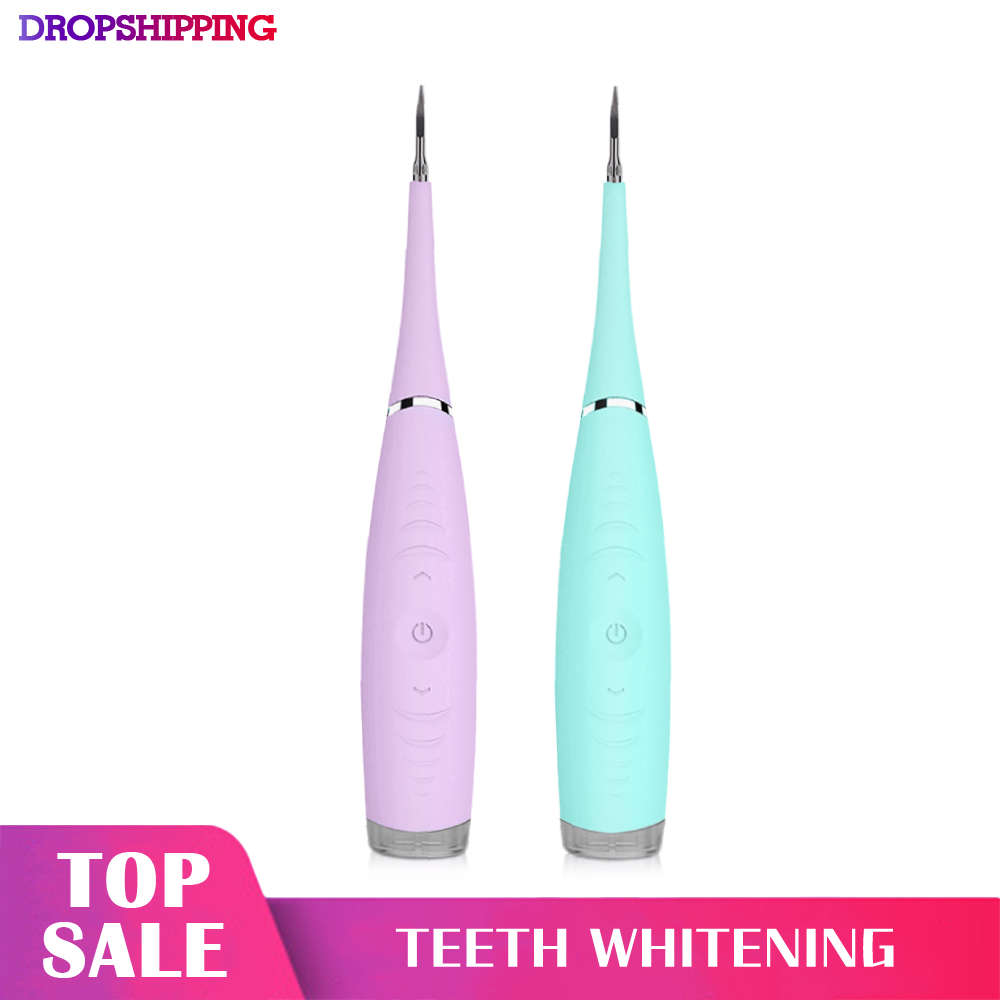Electric Sonic Dental Scaler Tooth Calculus Remover Tooth Stains Tartar Tool Dentist Whiten Teeth Health Hygiene Teeth Whitenin|Oral Irrigators| |  -