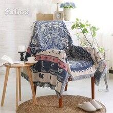 100% funda de algodón para sofá, toalla de estilo geométrico europeo, funda de sofá/silla, funda de sofá clásico antideslizante, envío gratis SP1801