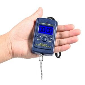 Image 4 - Vastar 40kg x 10g waga cyfrowa Mini do wędkowania bagaż podróżny waga bezstopniowa przenośna elektroniczna waga z hakiem