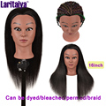 Laritaiya Female Mannequin Head With Hair For Braiding African Mannequin Practice Hairdressing Training Head For Cosmetology