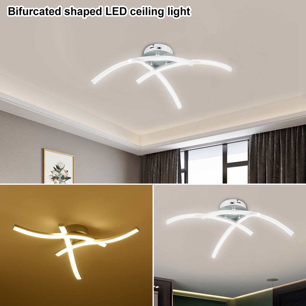 H70d4385173c7421d8f170af499298889T Strange LED Ceiling Lights Fork Embedded 21W 3000K White/Warm White Home Lighting Living Room Bedroom Decor Lamp