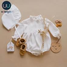 Baby Mädchen Kleidung 0-2T Lange Hülsenspielanzug Overalls einteiliges Neue Mode 100% Bio-baumwolle Neugeborenen baby Mädchen Strampler