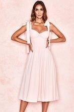 Deive teger 2021 nova chegada limão floral impressão & blush rosa midi vestido de praia feminino férias vestido de verão 8290