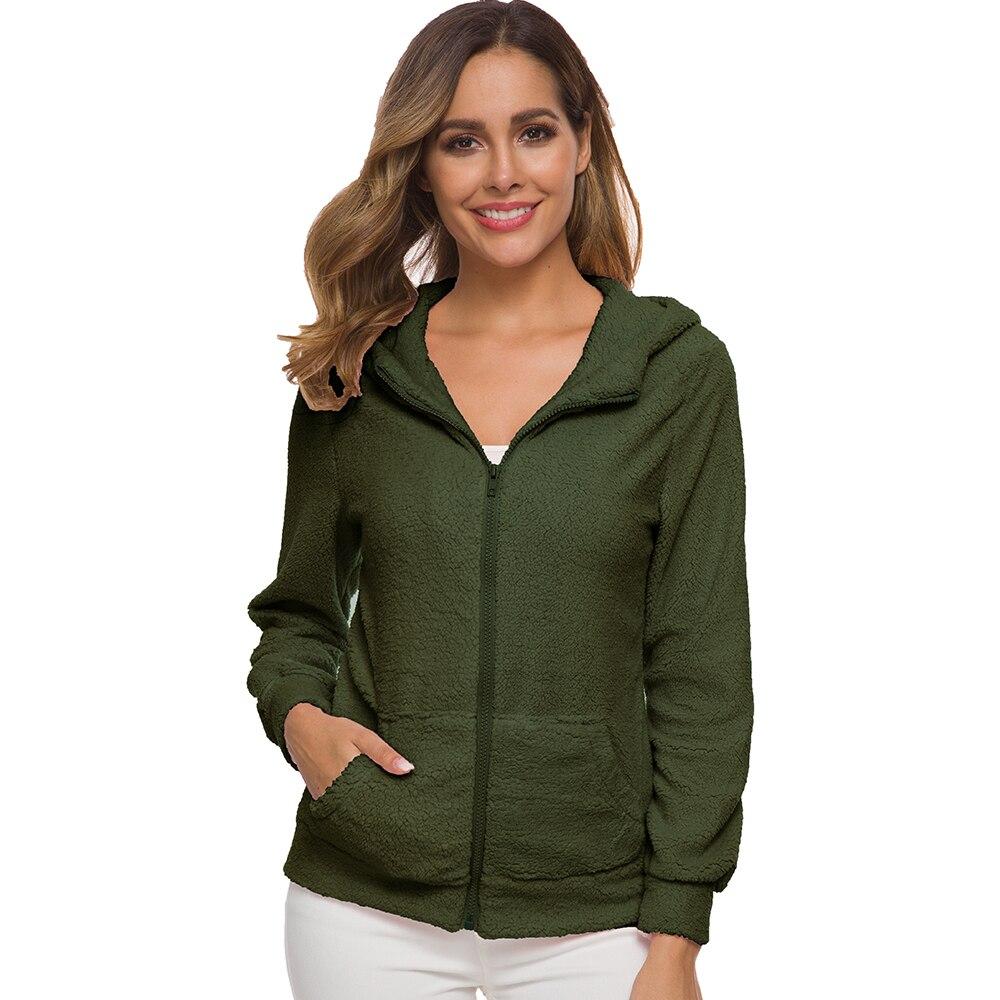 Hoodies Women Winter Casual Velvet Thicken Soft Zipper Hood Coat Female Plus size 5XL in Hoodies amp Sweatshirts from Women 39 s Clothing