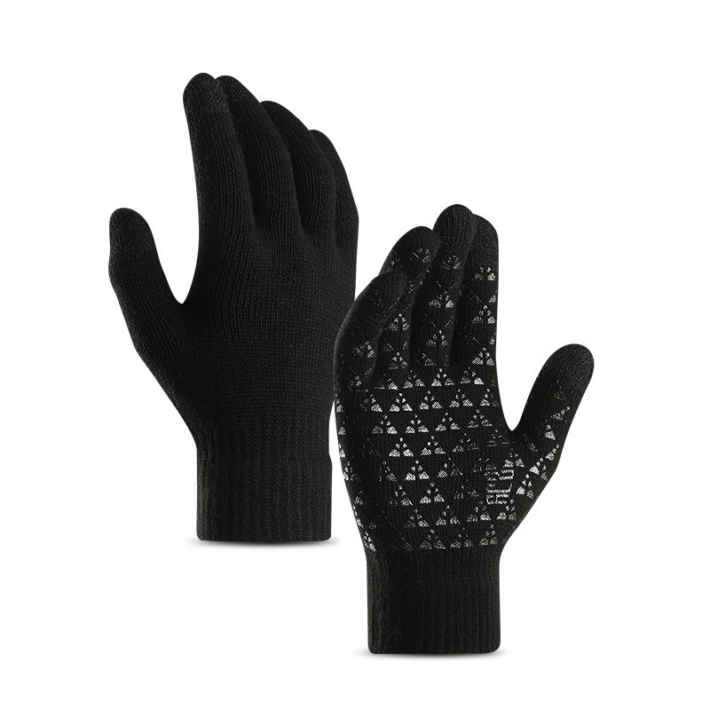Winter Men Gloves Women TouchScreen Gloves Warm Stretch Men Knit Mittens Imitation Wool Autumn Non-slip Touch Screen Gloves 2019