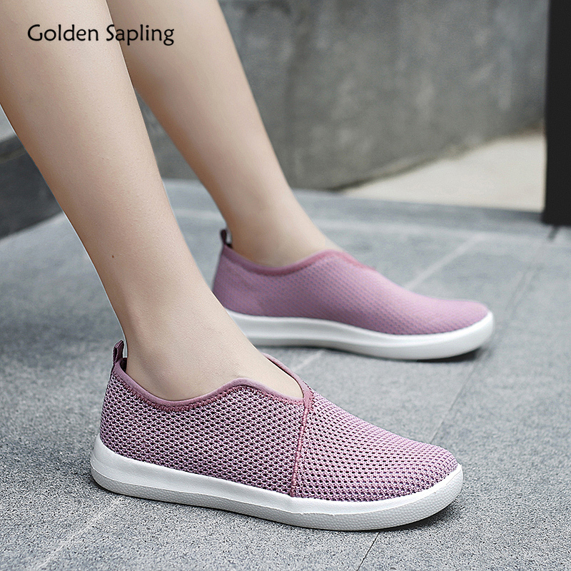 Golden Sapling 2020 Summer New Women's Sneakers Breathable Lightweight Slip-on Running Shoes For Women Fitness GYM Sports Shoe