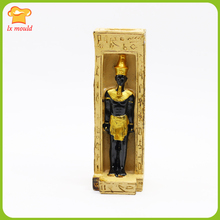 LXYY MOULD New Mummy Candle Silicone Mold King